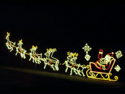 Lighted Santa